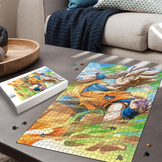 Dragon Ball Z Kakarot Super Saiyan 2 Colorful Portrait Puzzle