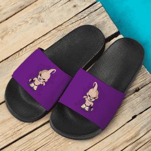 Dragon Ball Z Kid Buu Chibi Awesome Violet Slide Sandals