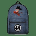 Dragon Ball Z Kid Goku Kanji Symbol Denim Style Backpack