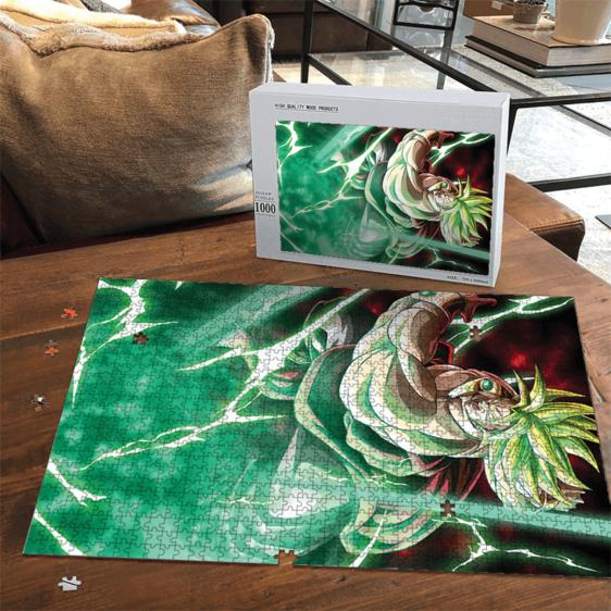 Dragon Ball Z Legendary Broly SSJ2 Green Aura Puzzle