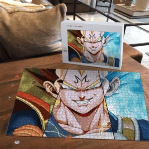 Dragon Ball Z Majin Vegeta Super Saiyan Blue Landscape Puzzle
