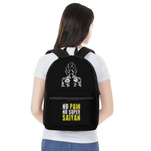 Dragon Ball Z No Pain No Super Saiyan Goku Workout Backpack
