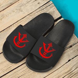 Dragon Ball Z Saiyan Royal Family Symbol Gray Dope Side Slippers
