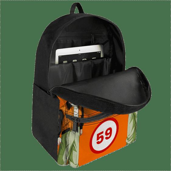 Dragon Ball Z Son Goku 59 Design Minimalist Orange Backpack