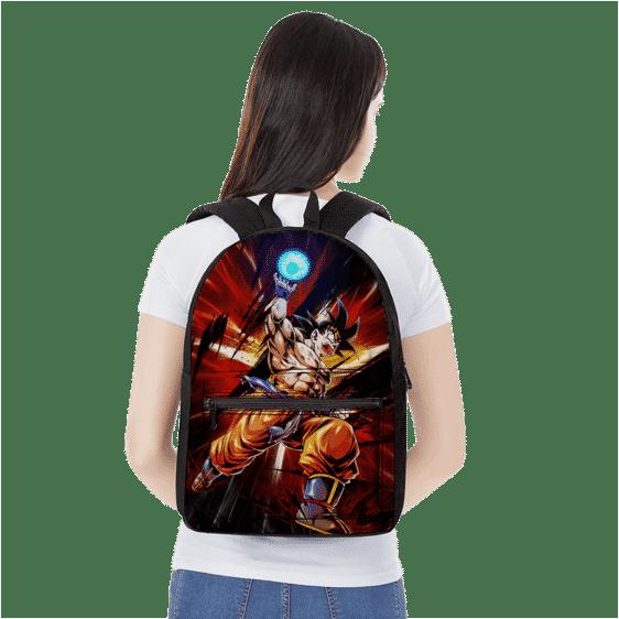 Dragon Ball Z Son Goku Base Form Ball Of Energy Canvas Backpack