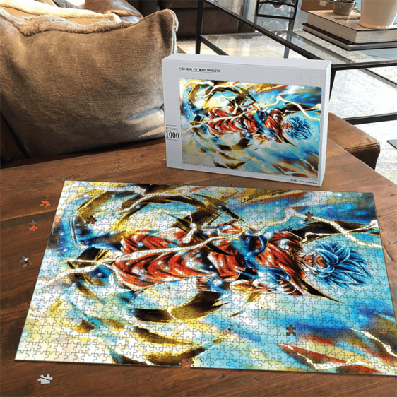 Dragon Ball Z Son Goku Super Saiyan Blue Awesome Portrait Puzzle