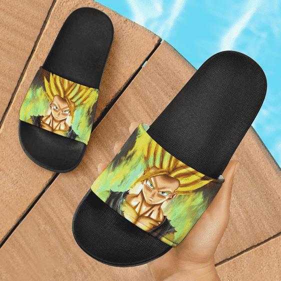 Dragon Ball Z Teen Gohan Painting Style Art Dope Slide Slippers