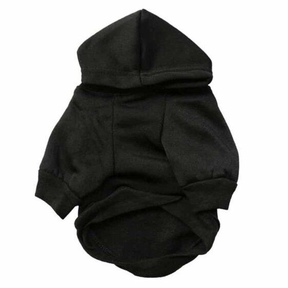 Fashion Black Dog Paw Print Small Dog Hoodie Jacket - Woof Apparel