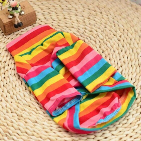 Soft Cotton Rainbow Bubbly Sweatshirt For Small Dogs - Woof Apparel