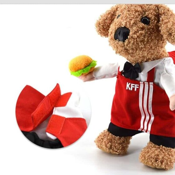 Red Waiter's Apron Costume For Your Lovely Cats And Dogs - Woof Apparel