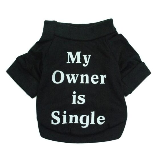 Soft Cotton Coat Letter Print Sweatshirt For Small Dogs - Woof Apparel