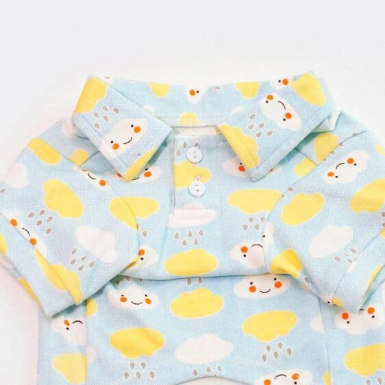 Rainy And Happy Cloud Pattern Print Small Dog Shirt - Woof Apparel