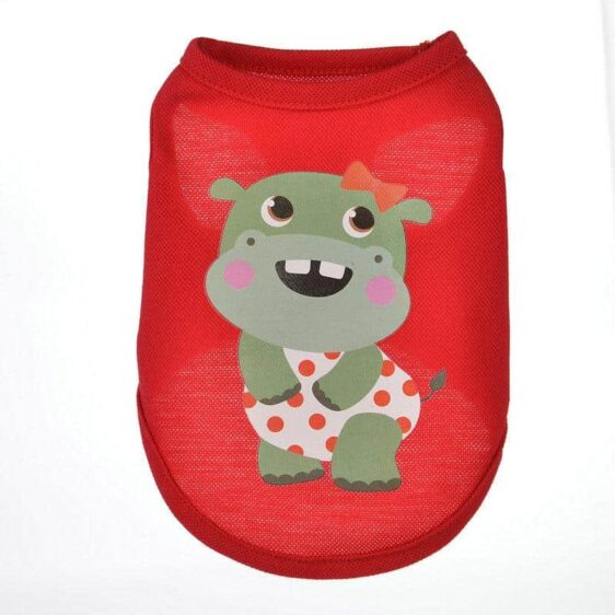 Dreamy Look Female Hippo Red Spring Small Dog Tank Top - Woof Apparel