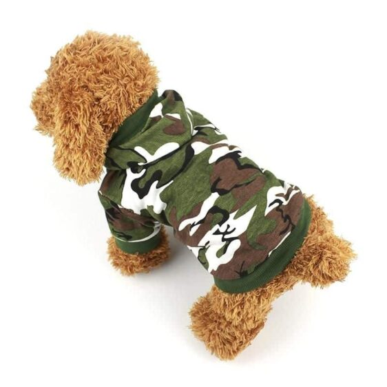 Cool Camouflage Winter Cotton Dog Coat Puppy Hoodie - Woof Apparel