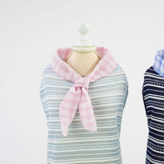 Lovely Eccentric Striped Pattern Summer Small Dog Shirt - Woof Apparel