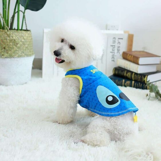 Adorable Stitch Star Spring Blue Small Dog Tank Top - Woof Apparel