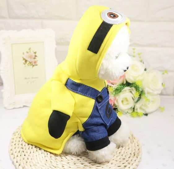Yellow Minion Onesie Jumper Cute Costume for Dog - Woof Apparel