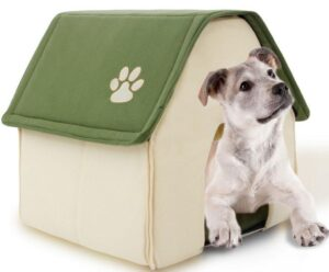 Cute Indoor Kennel Foldable Pet House Warm Puppy Bed - Woof Apparel