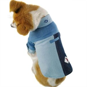 Fashionable Blue Jean Style Button Summer Dog Shirt - Woof Apparel