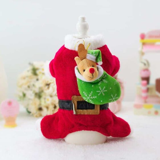 Cute Little Santa with Gifts Christmas Costume for Dog - Woof Apparel