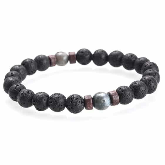 Lava Stones 7 Chakra Diffuser Bracelet for Men