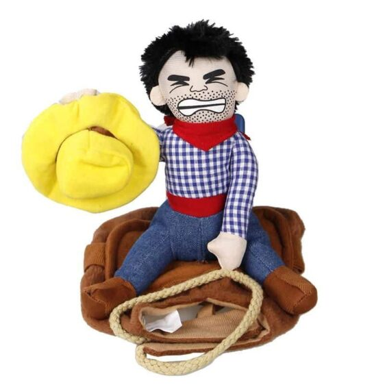 Cowboy Rider Rodeo Funny Novelty Costume for Dog - Woof Apparel