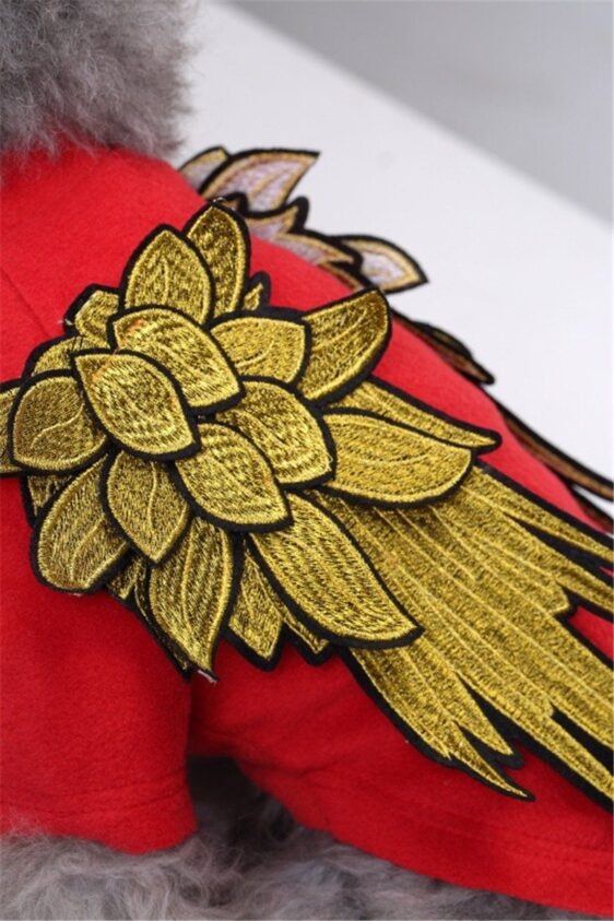 Cool 3D Embroidered Wings Angel Costume for Dog - Woof Apparel