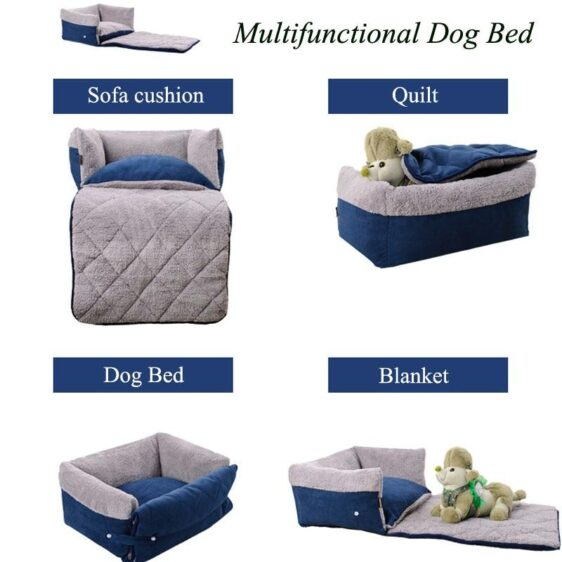 Cozy 4 Ways Multifunctional Warm Sofa Couch Dog Bed - Woof Apparel