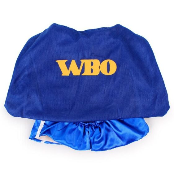 WBO Boxing Funny Costume Blue Shorts Red Gloves for Dog - Woof Apparel
