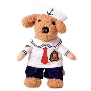 Cute Little Sailor Uniform with Hat Standing Costume for Dog - Woof Apparel