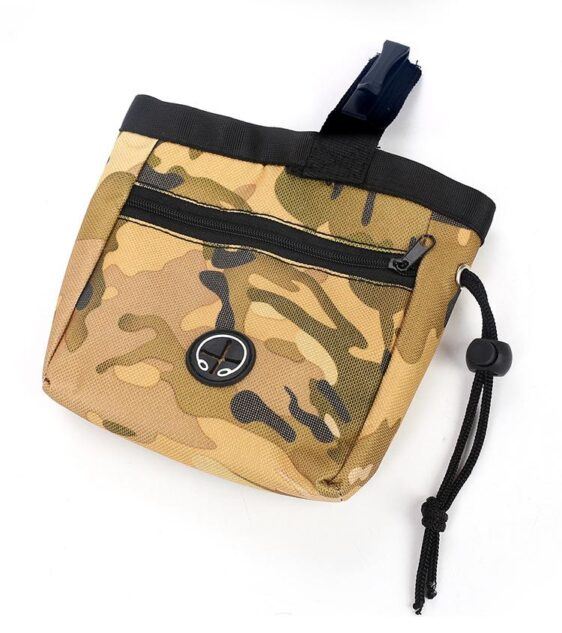 Camouflage Training Snack Waist Nylon Bag Dog Food Pouch - Woof Apparel