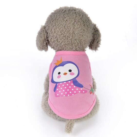 Shy Princess Penguin Pulling Toy Car Small Dog Tank Top - Woof Apparel