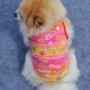 Pink Cute Stars Print Design Spring Small Dog Shirt - Woof Apparel