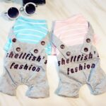 Cotton Striped Shirt Jumper Overall Small Dog Jumpsuit - Woof Apparel