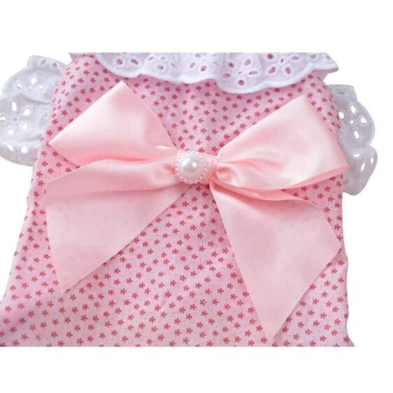 Cute Lace Ruffles With Bow Summer Outfit Puppy Dress - Woof Apparel