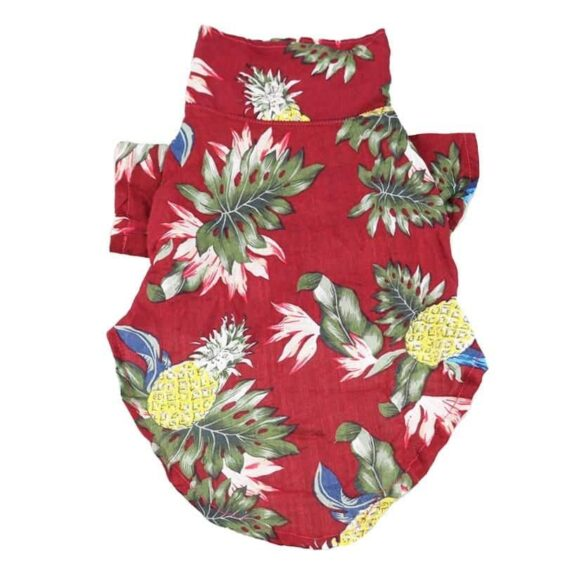 Pineapple Summer Collared Print Outfit Puppy Shirt - Woof Apparel