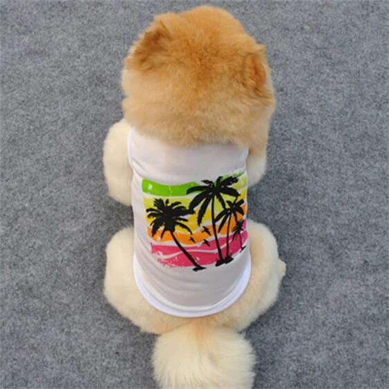 Peaceful Summer Colorful Island View Small Dog Tank Top - Woof Apparel