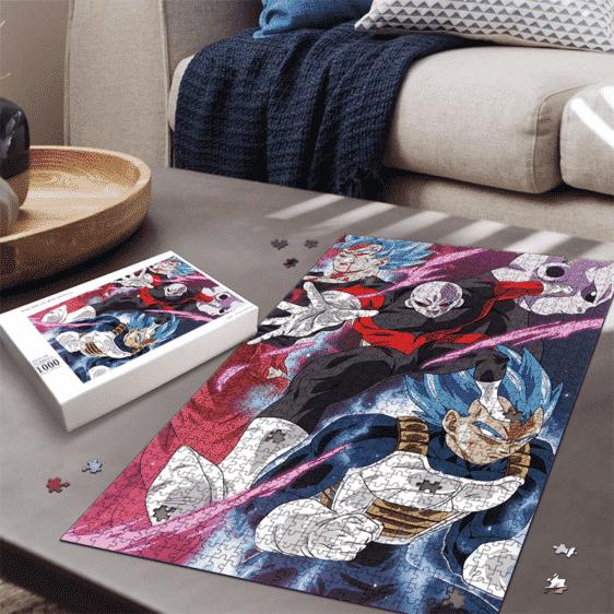 Super Saiyan Blue Goku Vegeta VS Jiren Dragon Ball Puzzle
