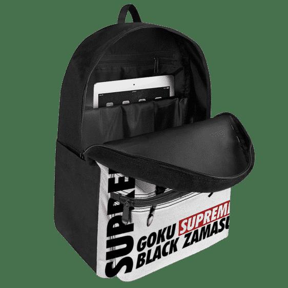 Supreme Inspired Art Rose Goku Black Zamasu Awesome Backpack