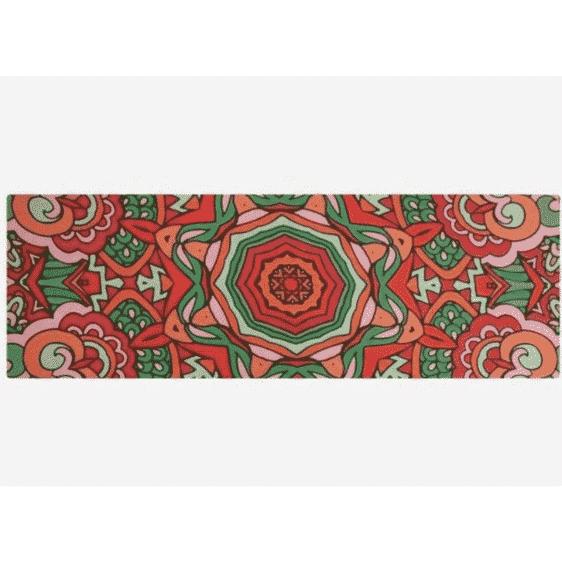 Remarkable multi-colored Mandala Printed Yoga Mat Suede Towel