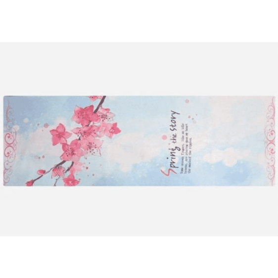 Famous Traditional Cherry Blossom Printed Yoga Mat Suede Towel