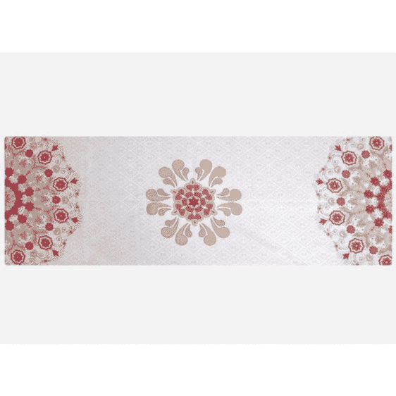 Extremely Versatile Wafer-Thin Vermillion Red Yoga Mat Suede Towel