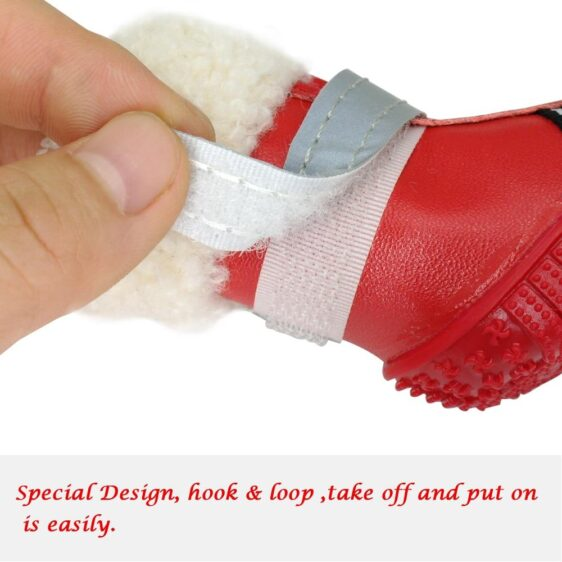 Cute Front Zip Up Autumn Winter Footwear Small Dog Shoes - Woof Apparel
