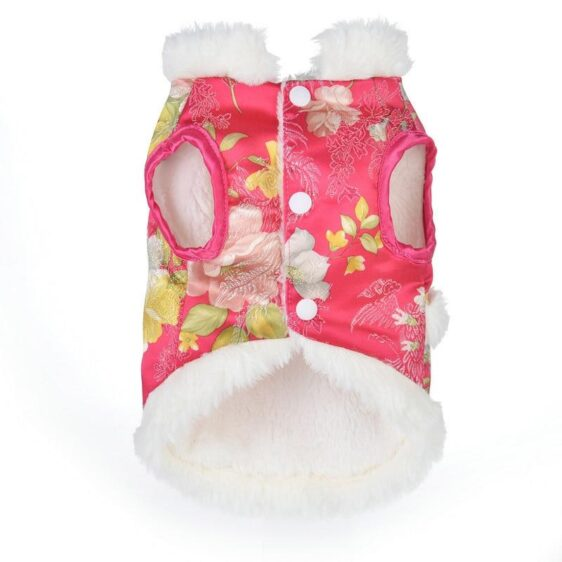 Cute Chinese New Year Pet Clothes Winter Small Dog Coat - Woof Apparel
