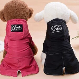 Cool Soft Winter Long Back Small Dog Hooded Jacket - Woof Apparel