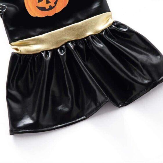 Funny Black Halloween Costume Dress Pumpkin For Dogs - Woof Apparel