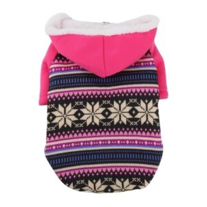 Classic Snowflakes With Ethnic Lining Puppy Jacket - Woof Apparel