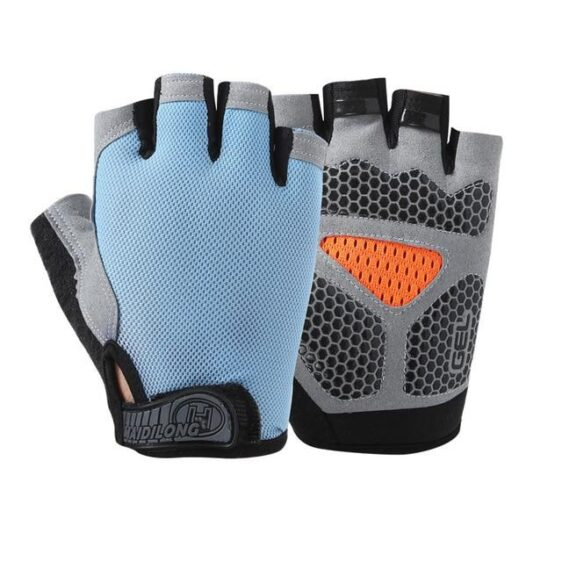 Adorable Baby Blue Superfine Fiber Yoga Gloves for Injury Prevention - Yoga Gloves - Chakra Galaxy