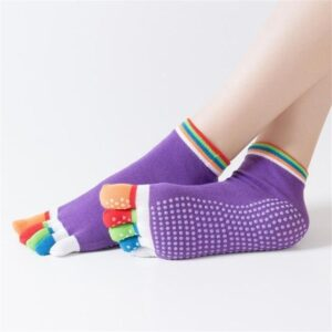 Anti-Slid Quick Dry Full Five Toe Grip Cotton Finger Yoga Socks - Yoga Socks - Chakra Galaxy