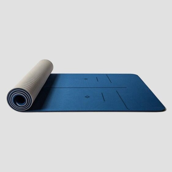 Blue Thick Environmental Non-Slip Yoga Mats for Daily Fitness Routine - Chakra Galaxy